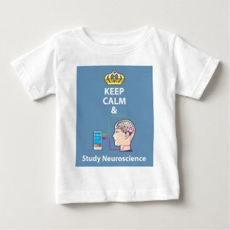 Keep Calm and Study Neuroscience vector Baby T-Shirt