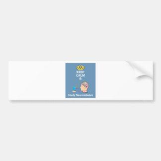 Keep Calm and Study Neuroscience vector Bumper Sticker