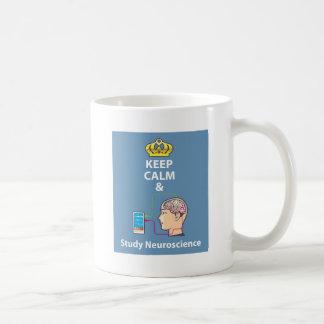 Keep Calm and Study Neuroscience vector Coffee Mug