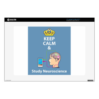 Keep Calm and Study Neuroscience vector Decal For Laptop