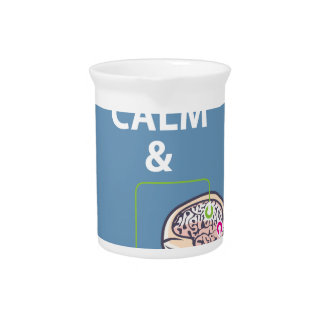 Keep Calm and Study Neuroscience vector Drink Pitcher