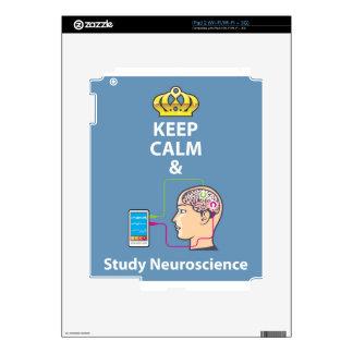 Keep Calm and Study Neuroscience vector iPad 2 Skins