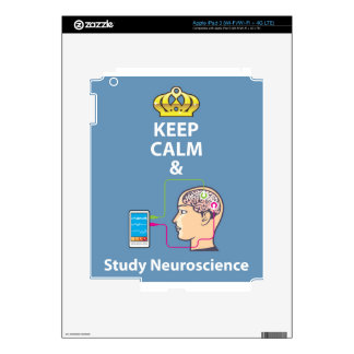 Keep Calm and Study Neuroscience vector iPad 3 Decals