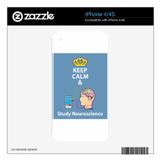 Keep Calm and Study Neuroscience vector iPhone 4 Decals