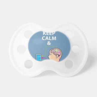 Keep Calm and Study Neuroscience vector Pacifier
