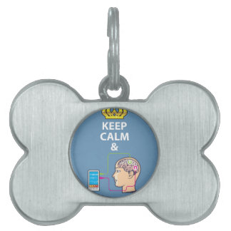 Keep Calm and Study Neuroscience vector Pet Name Tag