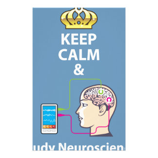 Keep Calm and Study Neuroscience vector Stationery