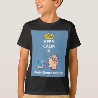 Keep Calm and Study Neuroscience vector T-Shirt