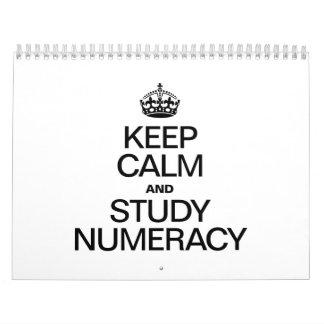 KEEP CALM AND STUDY NUMERACY WALL CALENDARS