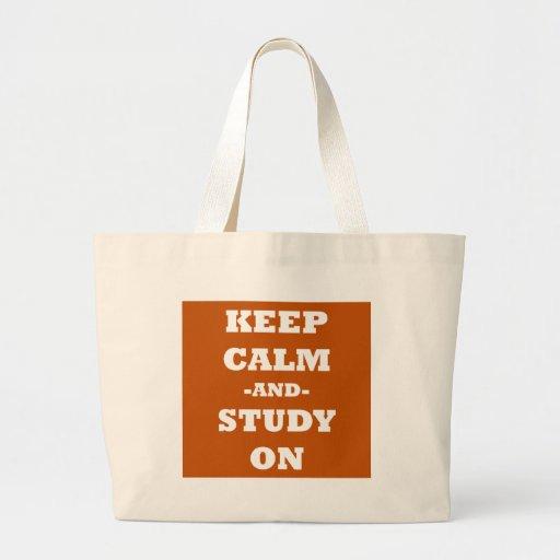 Keep Calm And Study On Jumbo Tote Bag