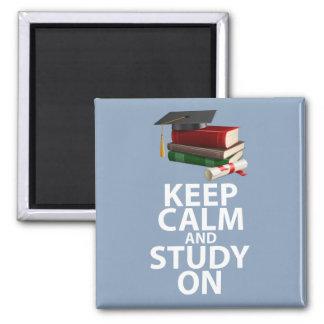 Keep Calm and Study On Original Motivational Print Magnet