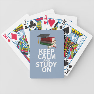 Keep Calm and Study On Original Motivational Print Bicycle Playing Cards