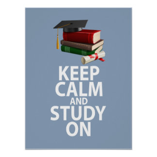 Keep Calm and Study On Unique Poster Print Design