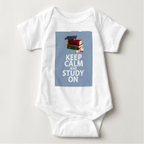 Keep Calm and Study On Unique Print Encouragement Baby Bodysuit