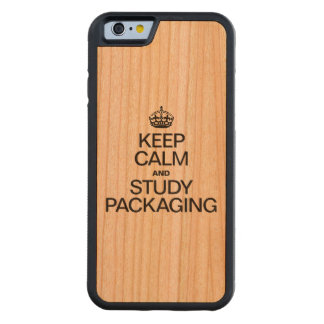 KEEP CALM AND STUDY PACKAGING CARVED® CHERRY iPhone 6 BUMPER