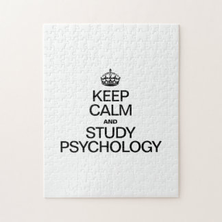 KEEP CALM AND STUDY PSYCHOLOGY JIGSAW PUZZLE