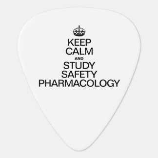 KEEP CALM AND STUDY SAFETY PHARMACOLOGY GUITAR PICK