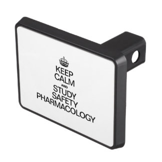 KEEP CALM AND STUDY SAFETY PHARMACOLOGY TOW HITCH COVER