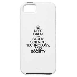 KEEP CALM AND STUDY SCIENCE, TECHNOLOGY, AND SOCIE iPhone SE/5/5s CASE