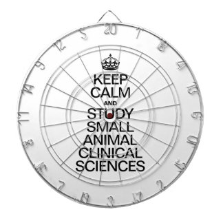 KEEP CALM AND STUDY SMALL ANIMAL CLINICAL SCIENCES DART BOARDS