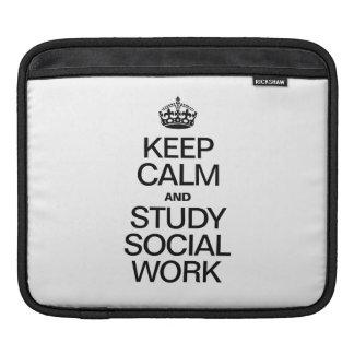 KEEP CALM AND STUDY SOCIAL WORK iPad SLEEVES
