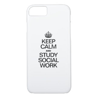 KEEP CALM AND STUDY SOCIAL WORK iPhone 8/7 CASE