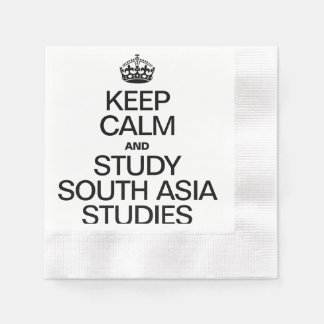KEEP CALM AND STUDY SOUTH ASIA STUDIES COINED COCKTAIL NAPKIN