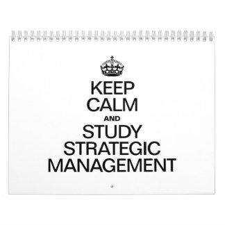 KEEP CALM AND STUDY STRATEGIC MANAGEMENT WALL CALENDAR