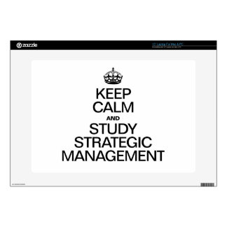 KEEP CALM AND STUDY STRATEGIC MANAGEMENT LAPTOP DECAL