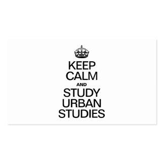 KEEP CALM AND STUDY URBAN STUDIES BUSINESS CARD TEMPLATE