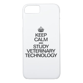 KEEP CALM AND STUDY VETERINARY TECHNOLOGY iPhone 7 CASE