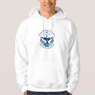 Keep calm and study whales hooded sweatshirt