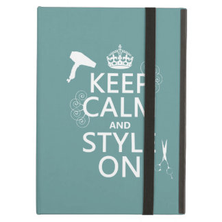 Keep Calm and Style On (any background color) Case For iPad Air