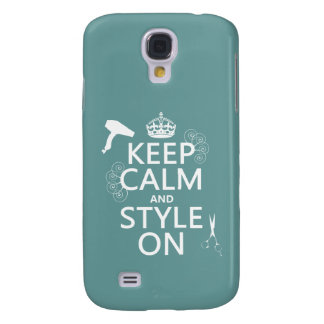 Keep Calm and Style On (any background color) Samsung Galaxy S4 Cover