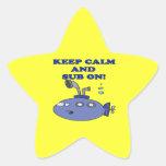Keep Calm And Sub On 2 Star Sticker