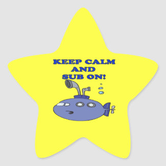 Keep Calm And Sub On 2 Star Sticker
