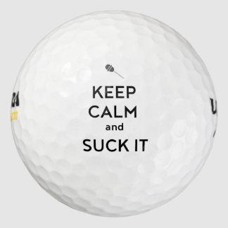 Keep Calm and Suck It Golf Balls