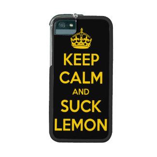 Keep calm and suck lemon iPhone 5/5S case