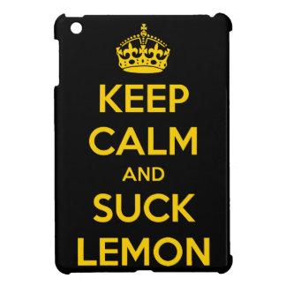 Keep calm and suck lemon iPad mini covers