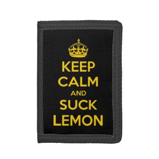 Keep calm and suck lemon tri-fold wallet