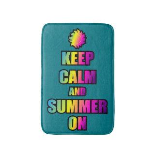 Keep Calm And Summer On Bathroom Mat