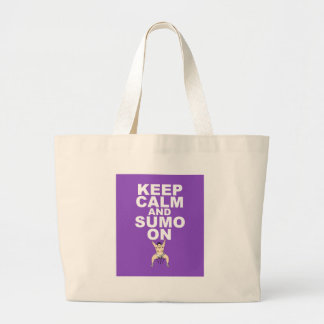 Keep Calm and Sumo On Design Original Gift Print Large Tote Bag