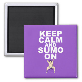 Keep Calm and Sumo On Gift Print Unique Design Magnet