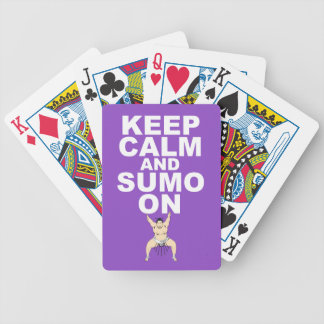 Keep Calm and Sumo On Gift Print Unique Design Deck Of Cards
