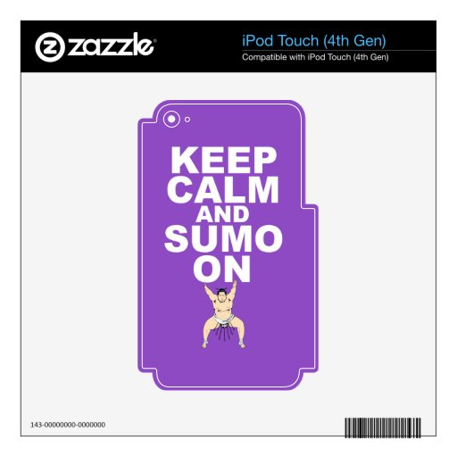 Keep Calm and Sumo On Gift Print Unique Design iPod Touch 4G Skin