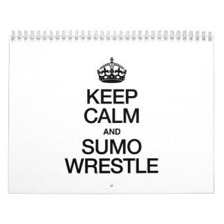 KEEP CALM AND SUMO WRESTLE WALL CALENDARS