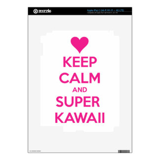Keep Calm and Super Kawaii Decal For iPad 3