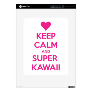 Keep Calm and Super Kawaii iPad Skin