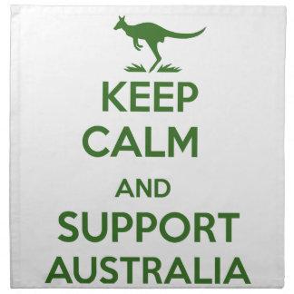 Keep Calm and support Australia Cloth Napkin