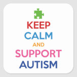 Keep Calm And Support Autism Sticker